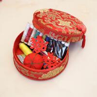 婚庆针线盒套装结婚陪嫁用品家用布艺缝纫针线剪刀朋友结婚*
