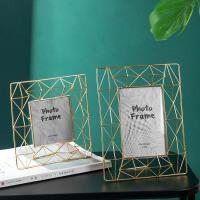 欧式金属相框摆台个性创意桌面相片框照片摆件镂空金色相框架六寸