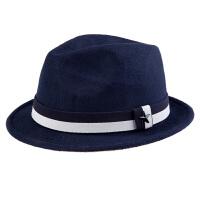 韩国羊毛呢小礼帽 英伦复古蝴蝶结圆顶爵士毡帽盆帽子女时尚