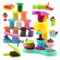 彩泥橡皮泥模具工具套装冰淇淋雪糕无毒粘土女孩玩具过家家