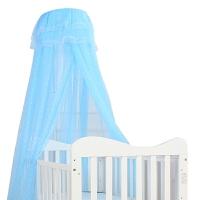 儿童床蚊罩宝宝婴儿蚊帐罩婴儿床蚊帐带支架可升降