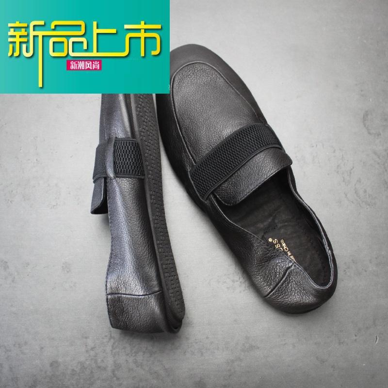 新品上市男士透气头层牛皮休闲鞋日系套脚款式开车鞋豆豆鞋男鞋复古鞋   新品上市,1件9.5折,2件9折