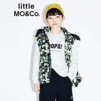 littlemoco秋季新品儿童羽绒马甲经典迷彩男童羽绒服2019新款马甲