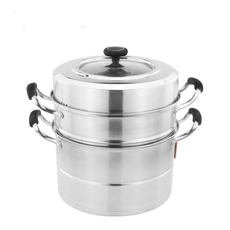 华格莱 30cm美味轩复底三层多用蒸锅