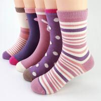 女童袜子秋冬儿童棉袜女秋中大童女孩中筒全棉公主学生袜短袜