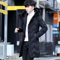 羽绒服男冬季外套2019新款加厚中长款潮流帅气服男士冬装