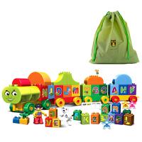 兼容乐高得宝大颗粒拼装积木百变数字字母小火车3岁儿童4玩具