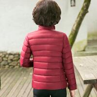 新年特惠年轻妈妈冬装轻薄羽绒服气质短款上衣2019新款中年女秋冬洋气外套