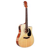 吉他R10CE单板民谣木吉他缺角电箱左手琴