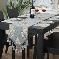 欧式茶几桌旗电视柜餐桌中间桌布条布艺长条装饰布盖巾j
