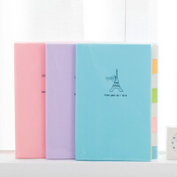 韩版简约可爱笔记本文具本子加厚学生用B5侧翻分类胶套记事本