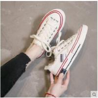 小白鞋子帆布女鞋潮鞋饼干板鞋学生韩版百搭ulzzang