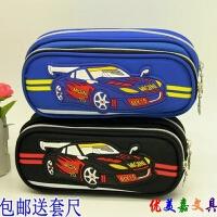 包邮小学生笔袋女生公主男生汽车儿童文具盒韩国简约大容量铅笔袋