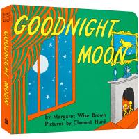 英文原版绘本Goodnight Moon 晚安月亮撕不烂纸板书 廖彩杏书单 宝宝儿童睡前故事图画书亲子读物 原版英文进
