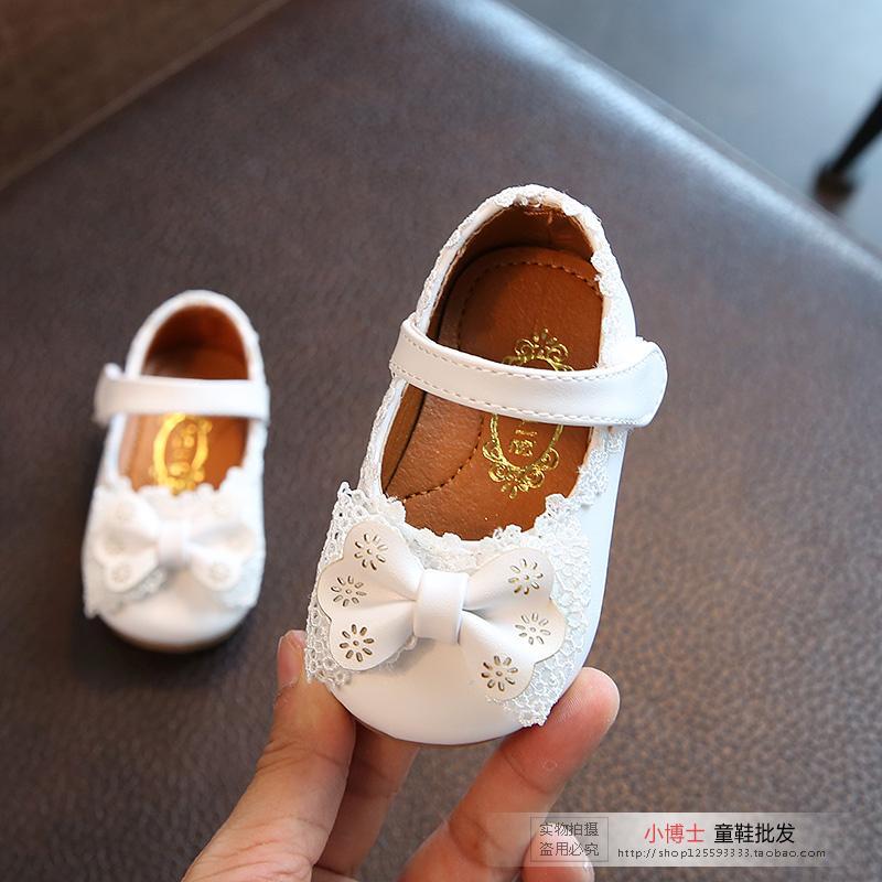 儿童鞋婴儿单鞋女宝宝春秋0-1-2岁防滑软底女童皮鞋公主学步鞋子