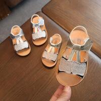 女童凉鞋 0-1-2岁女宝宝软底凉鞋女童公主鞋
