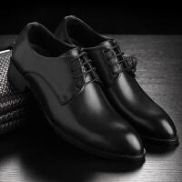 男士皮鞋潮流韩版正装商务皮鞋尖头婚鞋英伦内增高休闲鞋
