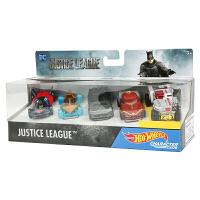 风火轮火辣小跑车收藏版 正义联盟5辆装 蝙蝠侠人男孩玩具DXN59 正义联盟角色小车5辆装 DXN59