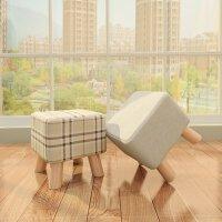 家逸 简约换鞋凳 儿童实木脚凳 四脚矮凳 梳妆凳 现代简约沙发凳小墩子