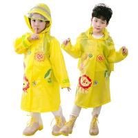 幼儿园小童小孩学生儿童雨衣男童连体带书包位宝宝雨衣