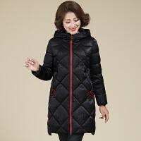 妈妈棉袄女冬中年女冬装外套中长款棉衣中老年人女装冬季羽绒