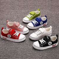 女童帆布鞋2019春秋新款男童布鞋子百搭儿童小白鞋幼儿园白球鞋潮