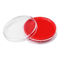 得力(deli)9863 圆形透明外壳快干印台(红色)当当自营