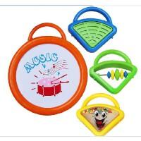 贝乐康婴儿玩具摇铃手拍鼓玩具音乐玩具四件套四合一小乐队