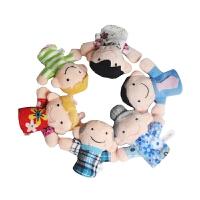 指套玩偶 宝宝手偶玩具娃娃 儿童安抚玩具毛绒动物手套 婴儿手指玩偶套 一家人 6个