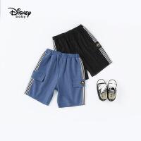 迪士尼宝宝快乐星球男童针织牛仔中裤夏季新品