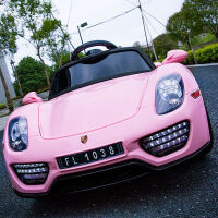 新款儿童电动车四轮大汽车双驱动跑车小孩遥控车宝宝玩具车可坐人