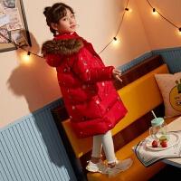 女童羽绒服2018新款冬宝宝儿童羽绒服女韩版中长款洋气加厚羽绒