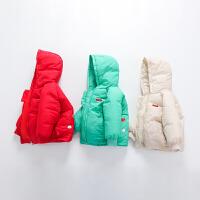 儿童宝宝童装羽绒棉衣宽松中小童加厚棉袄2岁小孩冬外套3