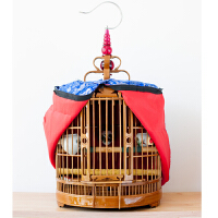 画眉鸟笼贵州款笼竹制八哥鸟笼大号镂空鸟笼配件鸟笼子