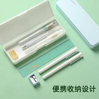 得力 铅笔盒学生女男PP塑料文具盒 本味笔盒无印简约良品铅笔盒