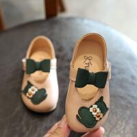 女童皮鞋春秋2019新款童鞋宝宝单鞋韩版公主鞋子1-3岁6儿童豆豆鞋