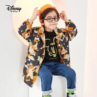 【3折�A估�r:109.7元】迪士尼男童�L衣春秋新款童米奇中�L款���膺B帽休�e�和�����外套