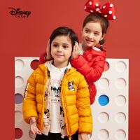 【今日3折�A估�r:114.9元】迪士尼�和�羽�q服2020秋冬新款洋�饽型�女童�����p薄童�b外套反季