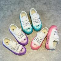 儿童帆布鞋男童鞋果冻底鞋布休闲板鞋宝宝鞋