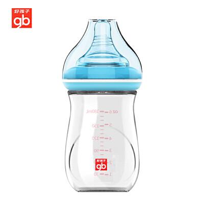 gb好孩子新生婴儿玻璃奶瓶0-6月宝宝防胀气宽口径小奶瓶120ml/180ml