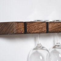 红酒杯架倒挂墙上置物架创意 现代简约实木家用酒吧原木墙上墙壁红酒高脚杯