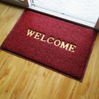 无字丝圈欢迎光临地垫塑料防滑入门垫进门口迎宾地毯pvc定制大红q welcome 黑红镂空网底