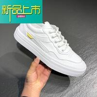 新品上市春季小白鞋19新款男鞋韩版潮流运动鞋休闲皮鞋男百搭学生鞋