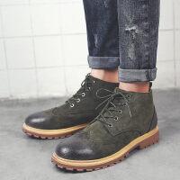 男士靴子马丁靴男潮皮靴高帮雪地靴百搭短靴英伦风