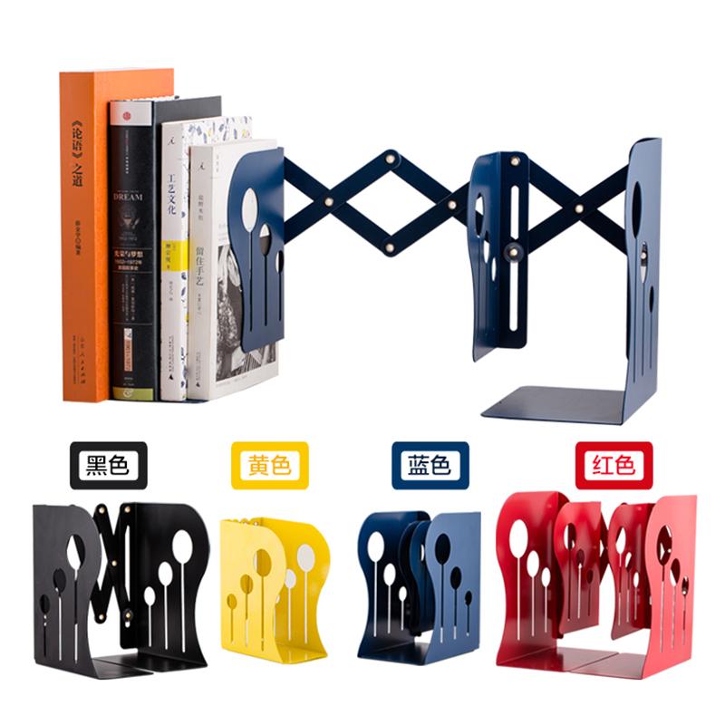 卓峰 可伸缩书立ZF50143颜色随机可伸缩书立架折叠书夹书靠书挡书立铁质伸缩书立简易书架桌上小书架置物架创意学生伸缩办公收纳架子 当当自营