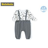 巴拉巴拉婴儿外出服新生儿衣服宝宝连体衣爬爬服0-3个月男童长袖