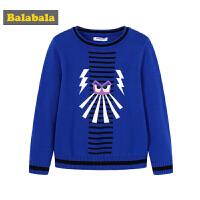 巴拉巴拉宝宝毛衣男童针织衫小童2019新款春季童装儿童纯棉套头衫