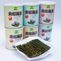 【包�]】即食海苔芝麻�A心海苔脆片罐�b紫菜�鬯咎��海苔零食海苔拌�6罐*40克量��b