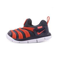 耐克(Nike)儿童鞋毛毛虫童鞋舒适运动休闲鞋343938-015 黑/红