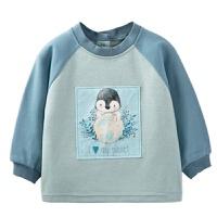 儿童罩衣冬季防水长袖宝宝中大童反穿衣吃饭围兜小孩外套护衣